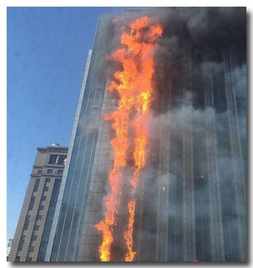 金宝博游戏_南京某大楼因空调自燃导致失火