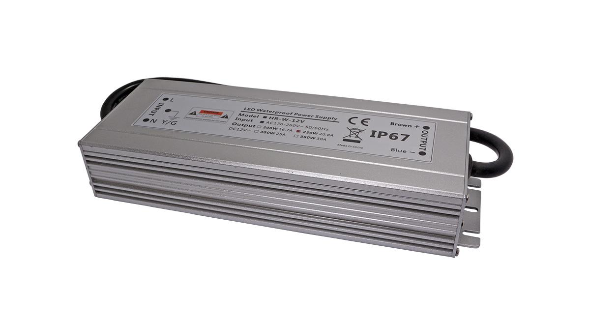 宽薄型大功率防水LED驱动电源250W