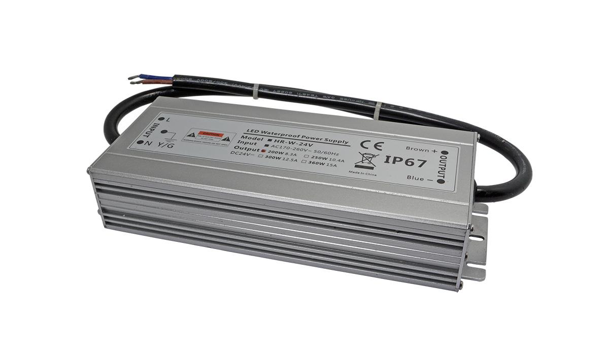 LED防水电源200w铝壳-深圳led电源厂家华荣科源