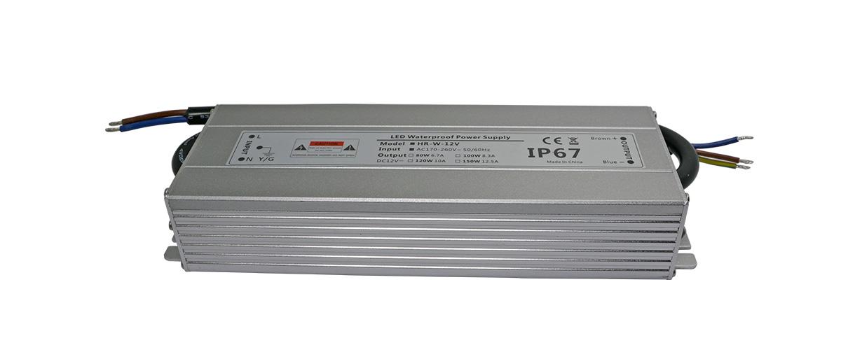 LED防水电源24V120W耐氧化铝外壳-深圳LED电源厂家华荣科源