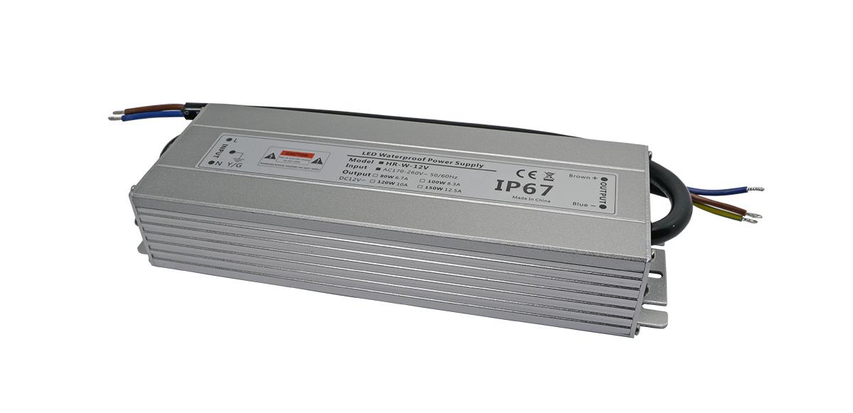 led防水电源24V100W耐氧化铝外壳-深圳led电源厂家华荣科源