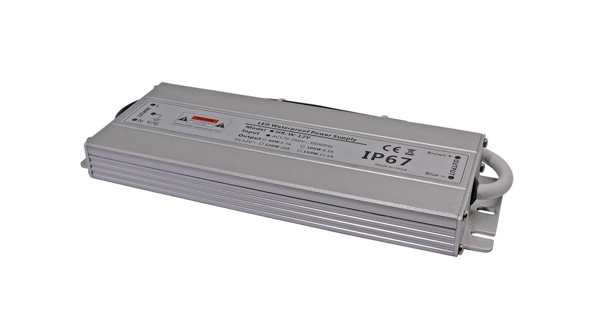 Led 超薄防水电源12V100W